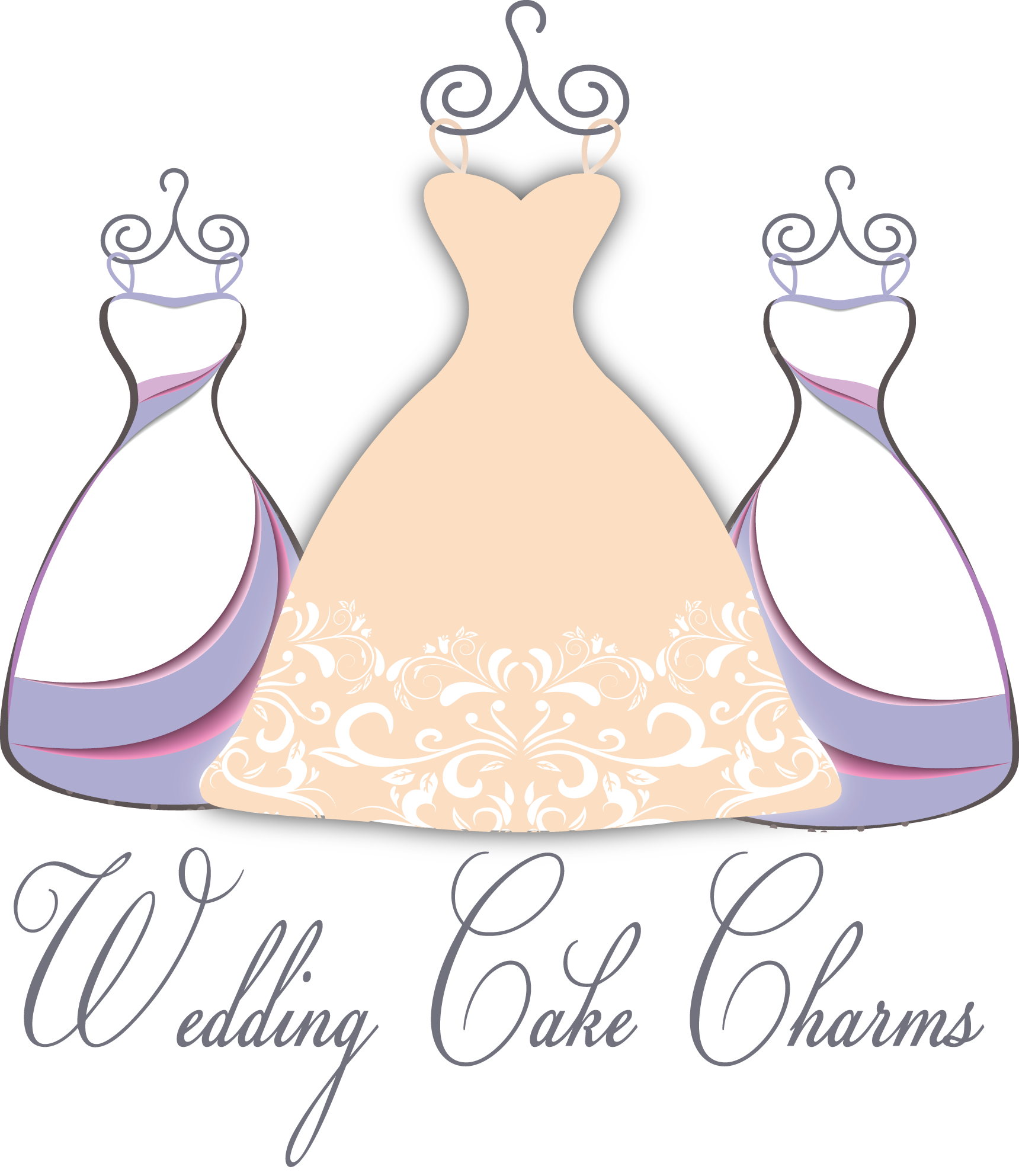 Wedding Cake Charms and Cake Pulls for Bridesmaid Luncheon